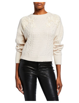 Lace Applique Pullover Sweater by Rebecca Taylor