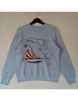 Vintage Florida Sweatshirt Sailboat Rare Design Sweater by Vintage  ×  Hawaiian Shirt  ×