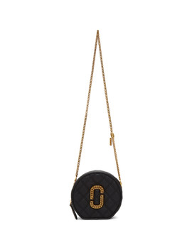 Black 'the Status Round' Bag by Marc Jacobs