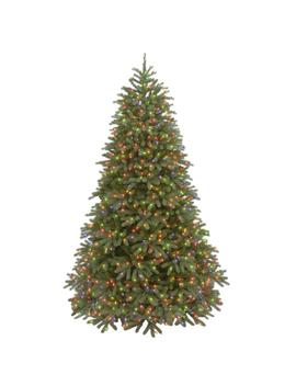 7 1/2 Ft. Feel Real Jersey Fraser Medium Fir Hinged Artificial Christmas Tree With 1000 Multicolor Lights by National Tree Company