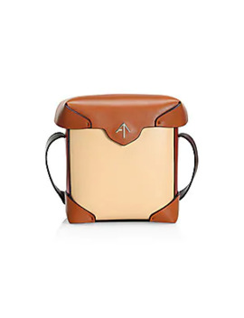 Mini Pristine Two Tone Leather Shoulder Bag by Manu Atelier