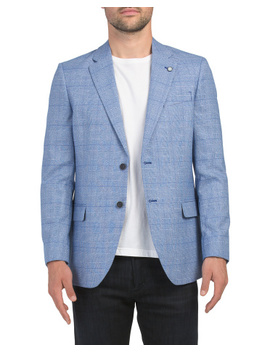 Plaid Stretch Sport Coat by Tj Maxx