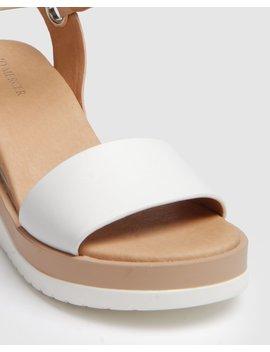 Kenzie Mid Heel Wedges White/Natural by Jo Mercer