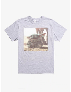 Star Wars The Mandalorian The Child Photoreal Grey T Shirt by Hot Topic