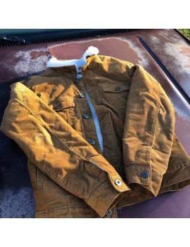Sherpa Tan Denim Jacket by Vintage  ×
