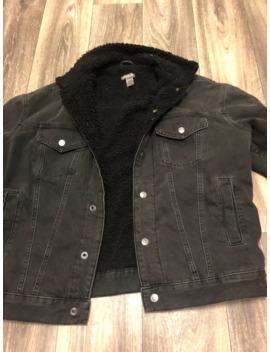 Black Faux Fur Jacket by H&M  ×
