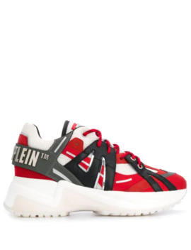 Statement Logo Plaque Sneakers by Philipp Plein
