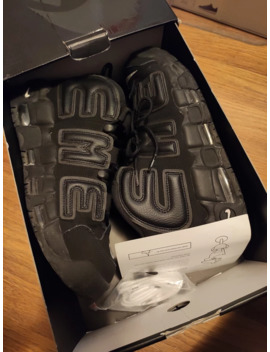 Air More Uptempo Black by Supreme  ×  Nike  ×