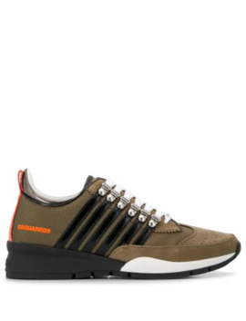 251 Multi Stripe Sneakers by Dsquared2