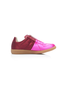 Two Tone Satin Sneakers by Maison Margiela