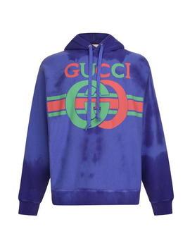 Vintage Fake Logo Hooded Sweatshirt by Gucci