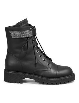 Lace Up Leather Boots by Giuseppe Zanotti