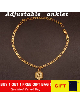 Extender Chain A Z Initial Letter Charm Gold Anklet Bracelet For Women Adjustable Luxury Alphabetble Leg Jewelry Foot Chain Girl by Ali Express.Com