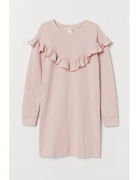 Байковое платье с оборкой by H&M