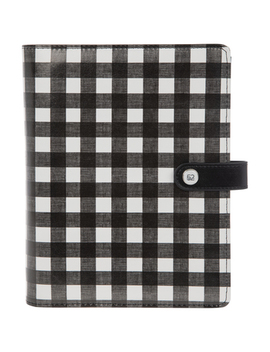 Black & White Buffalo Check 6 Ring Planner Binder by Hobby Lobby
