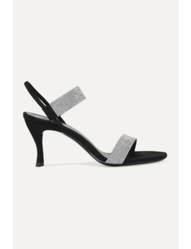 Mariah Crystal Embellished Suede Sandals by By Far