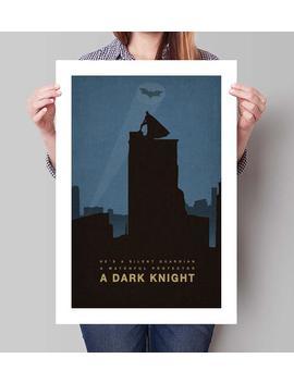 "Batman Inspired The Dark Knight Minimalist Movie Poster Print   13""X19"" (33x48 Cm) by Etsy"