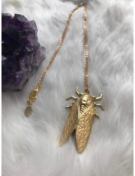 The Golden Cicada Necklace by Etsy