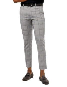 Bons Slim Fit Glen Plaid Cropped Pants by Topman
