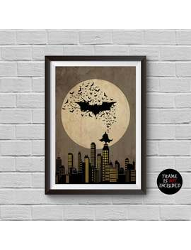 Batman Begins Minimalist Poster A Christopher Nolan Movie Illustration Cinema Home Decor Artwork Wall Art Hanging Cool Gift by Etsy
