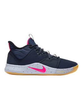 Nike Men's Pg 3 Basketball Shoes   Blue/Grey/Pink by Sport Chek