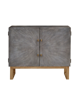 Two Door Shagreen Bar Cabinet by Home Fare