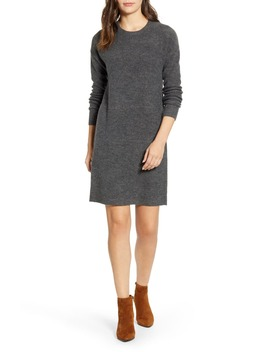 Crewneck Long Sleeve Sweater Dress by Caslon®