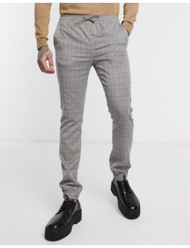 Asos Design Two Piece Skinny Pants In Check by Asos Design