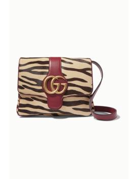 Arli Zebra Print Calf Hair And Leather Shoulder Bag by Gucci