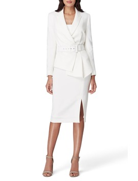 Two Piece Asymmetrical Belted Suit by Tahari