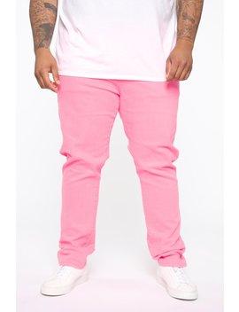 Neon Skinny Jean   Neon Pink by Fashion Nova
