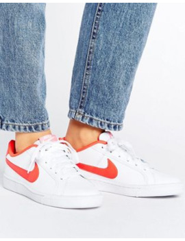 Nike Court Royale Sneakers In White And Red by Nike