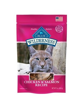 Blue Buffalo Wilderness 100% Grain Free Chicken & Salmon Recipe Cat Treats   2oz by Blue Buffalo
