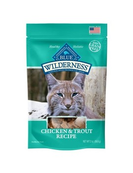 Blue Buffalo Wilderness 100% Grain Free Chicken & Trout Recipe Cat Treats   2oz by Blue Buffalo