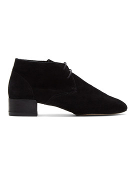Black Suede Ivan Boots by Repetto