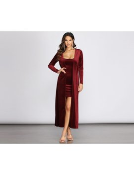 Velvet Luxe Duster by Windsor