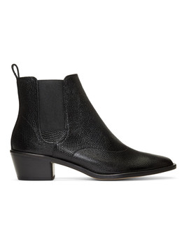 Black Snake August Ankle Boots by Repetto