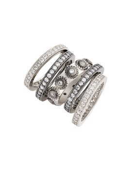 'contemporary Deco' Stacking Rings by Freida Rothman