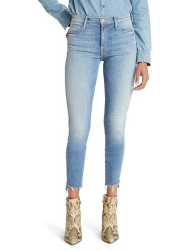 The Stunner High Waist Step Hem Ankle Skinny Jeans by Mother