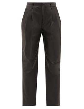 Pantalon Taille Haute En Cuir by Red Valentino