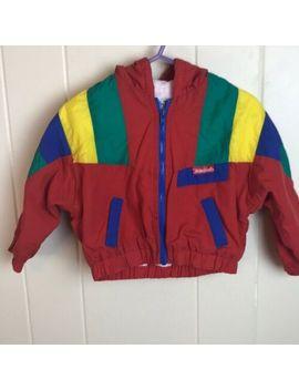 Vintage 80s/90s Primary Color Hooded Winter Jacket Coat 24 M Boys Kids Warm by Ebay Seller