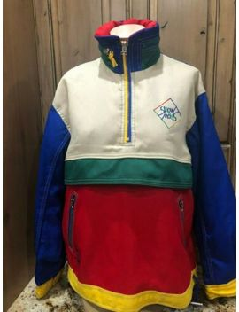 "Vtg 80's Chamonix Ski Jacket Men's L ""Snow"" Embroidered On Back Primary Colors by Chamonix"