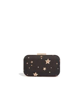 Star Jacquard Box Clutch by Oasis