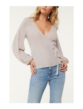 Barrymore Long Sleeve Wrap Top by O'neill