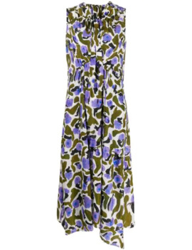 Sleeveless Flared Midi Dress by Christian Wijnants