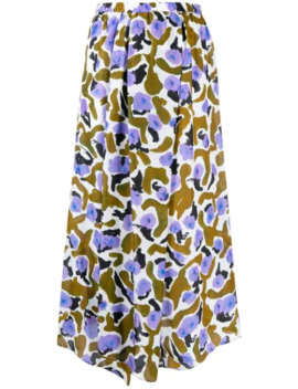 Sona Brown Lotus Skirt by Christian Wijnants
