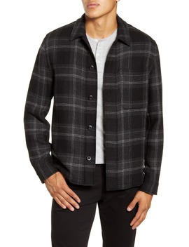 Classic Fit Plaid Flannel Shirt Jacket by Vince