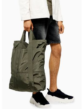 Khaki Tote Bag by Topman