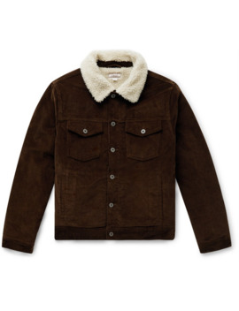Wallace & Barnes Fleece Lined Cotton Corduroy Trucker Jacket by J.Crew