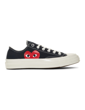 Black Converse Edition Half Heart Chuck 70 Sneakers by Comme Des GarÇons Play